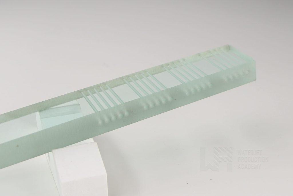 Glass water jet cutting