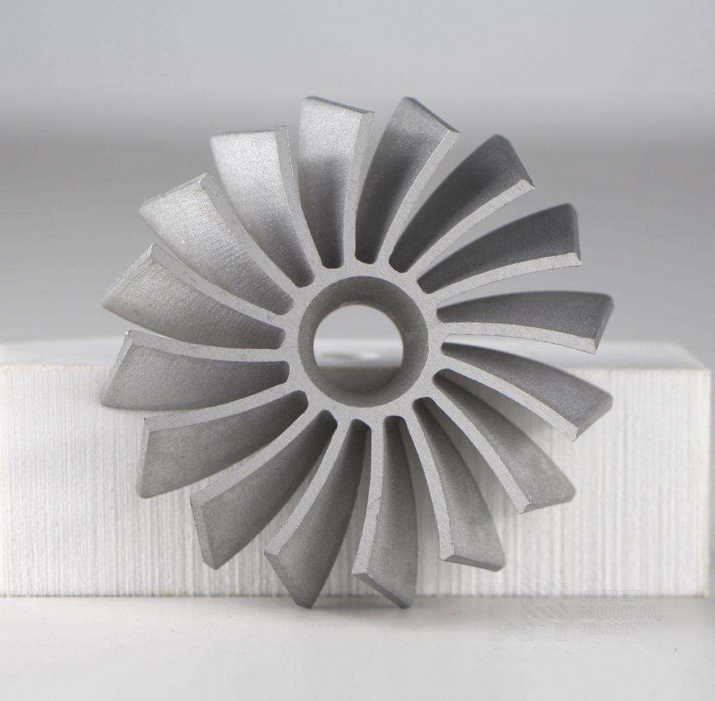 Wasserstrahlschneiden München - Turbine aus Aluminium